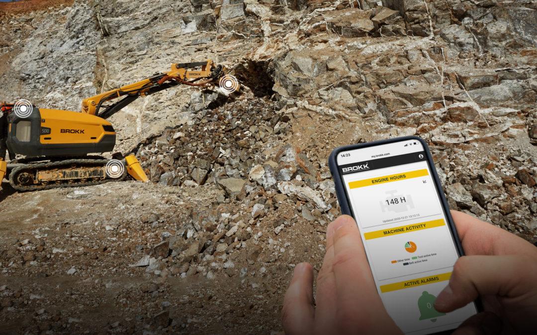 Brokk lanza la plataforma digital Brokk Connect para sus robots de demolición
